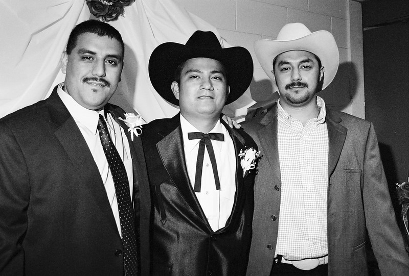 The groom with friends