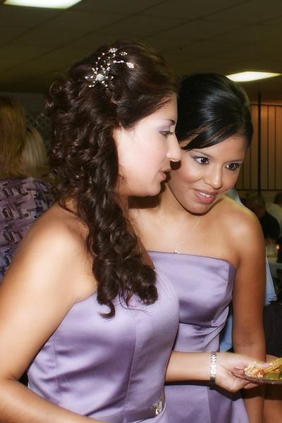Bridesmaids having a little talk