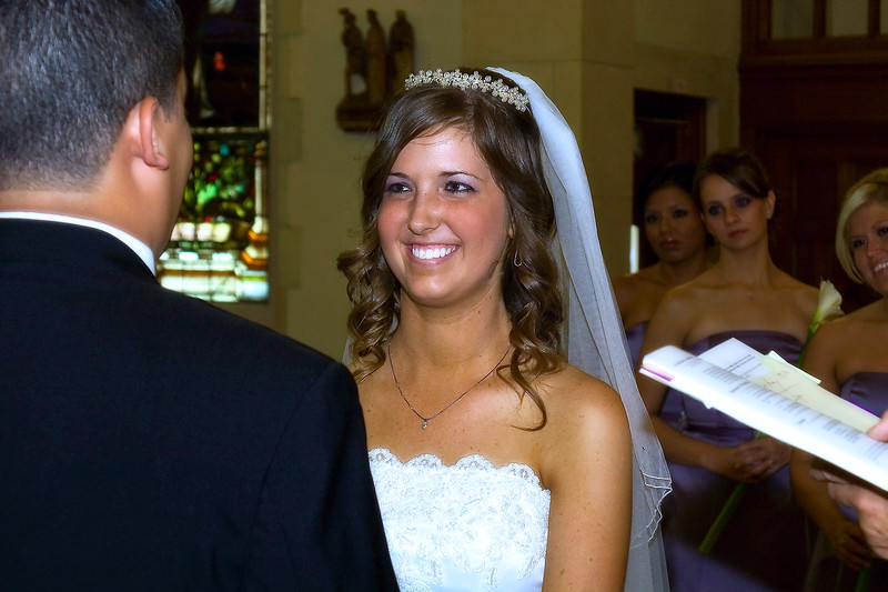 Beautiful smile at the ceremony