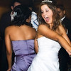 Maid of honor bumping and grinding with the bride