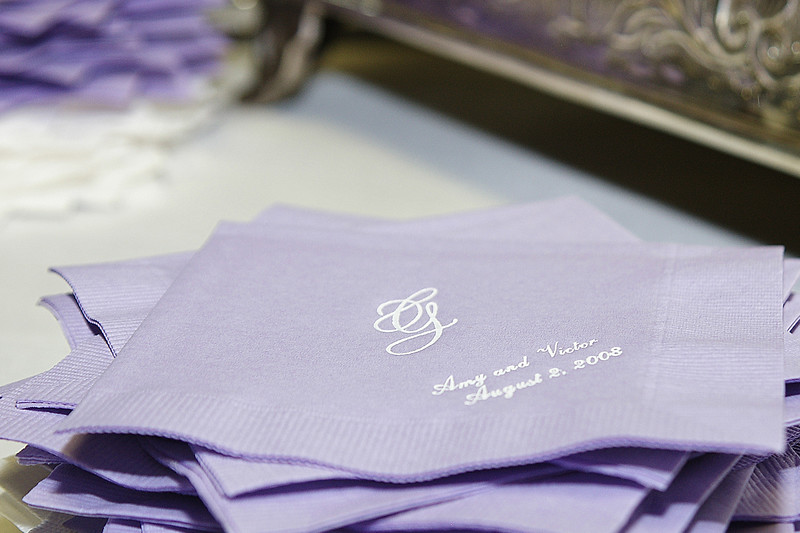 Close-up detail of napkins