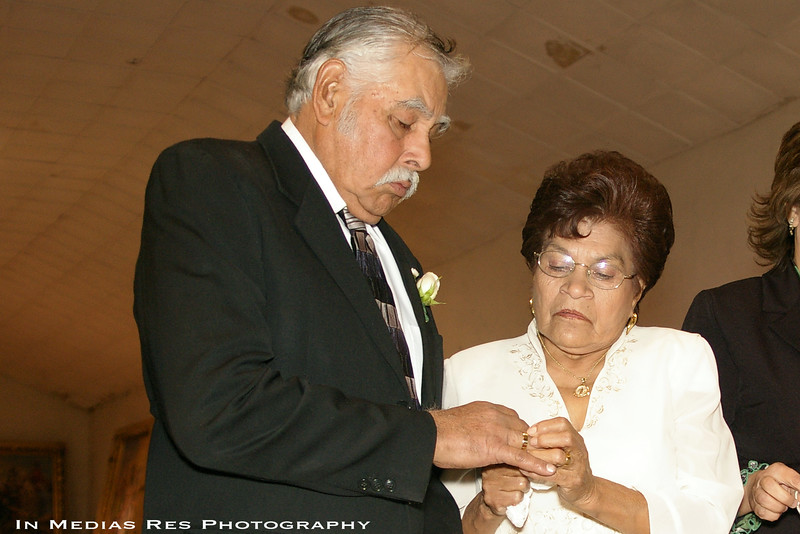 50-year anniversary, Renewing vows with family