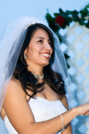 Beautiful smile in the middle of the ceremony