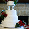 Full view of wedding cake