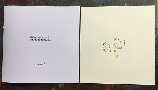 Offset litho and Letterpress on 120gsm uncoated paper.