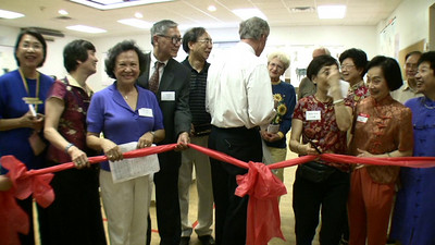 Chinese Festival Ribbon Cutting Ceremony w Tom Carper 6/19/2009