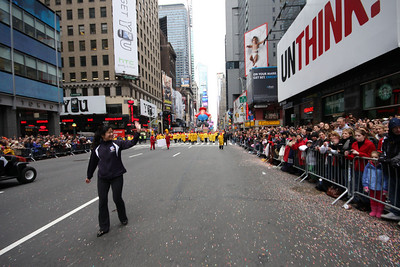 Parade on the streets of Manhattan, with 3 million people watching in the city, plus millions more on TV