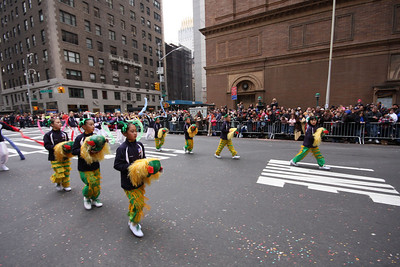 Parade on the street of Manhattan, with 3 million people watching