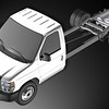 The ROUSH CleanTech liquid propane autogas fuel system for Ford E-450 cutaways uses a dual manifold tank and occupies the same package space as the OEM gasoline tank.