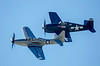 P-63 King Cobra and F6F Hellcat in formation.