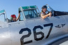 "Passenger Rutger and pilot Dave Olivier give a ""thumbs up"" prior to engine start in a CAF T-6 Texan."