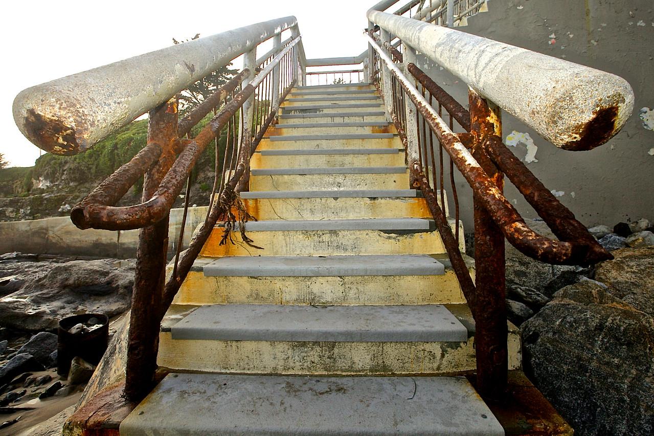 Beach Staircase.  Santa Cruz