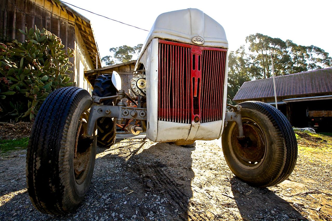 Old Ford Tractor.  Santa Cruz County Ranch