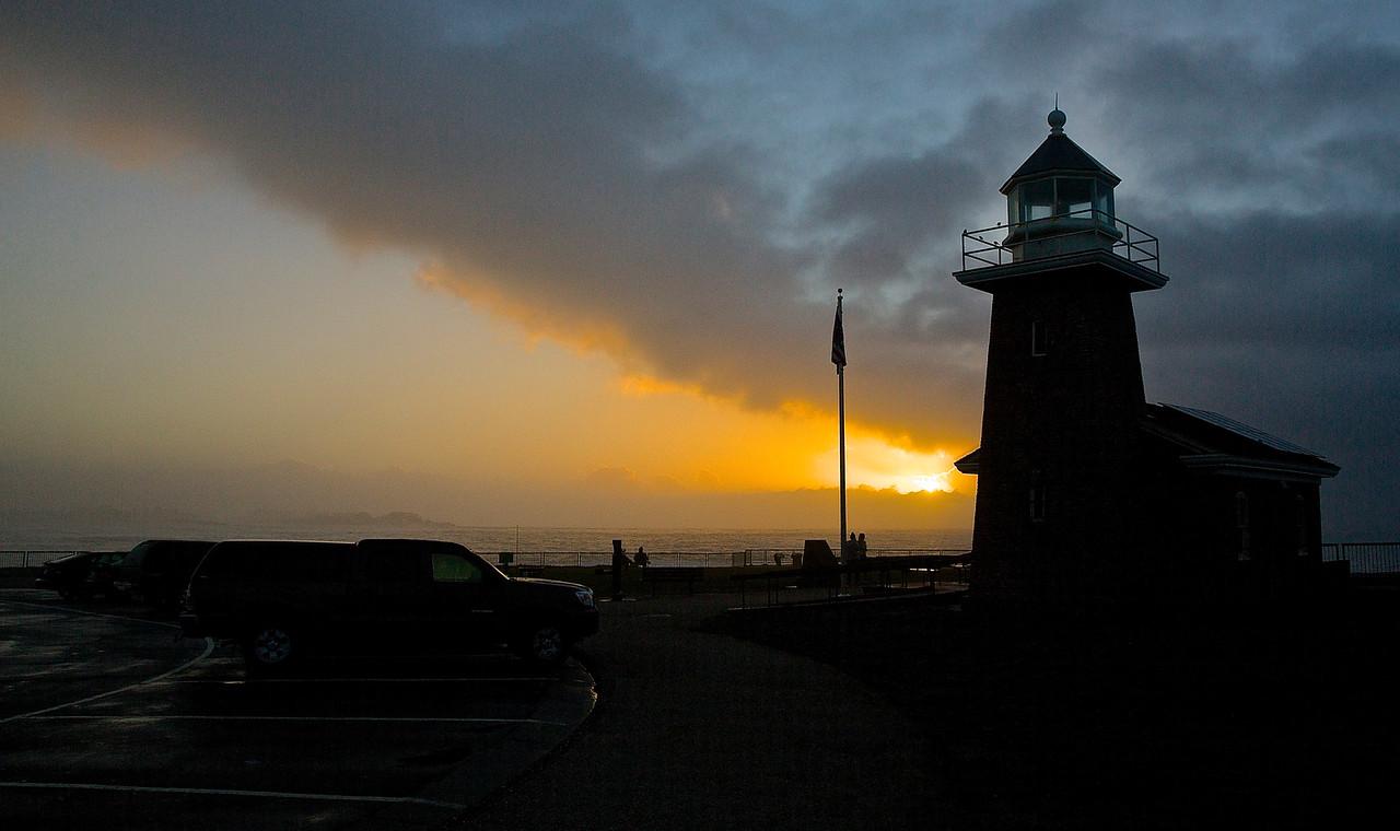 Santa Cruz Lighthouse.  Santa Cruz, California.