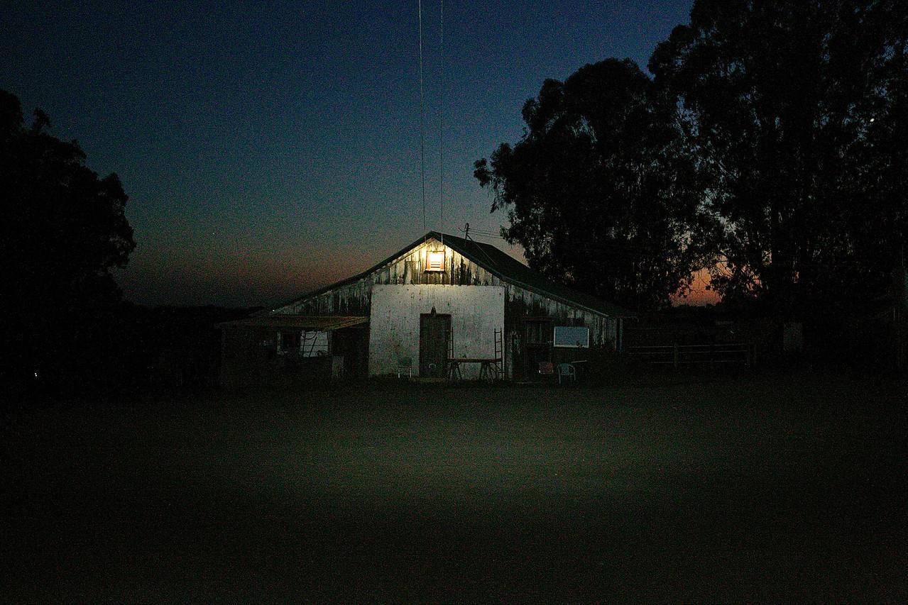 Lonesome Barn.  Near Wilder State Park, Santa Cruz County.