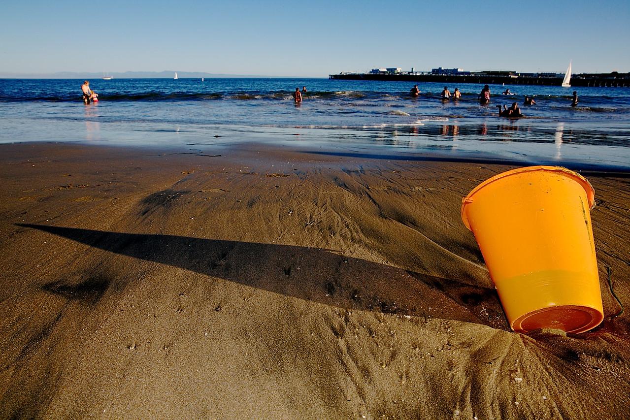 Beach Bucket.  Santa Cruz.