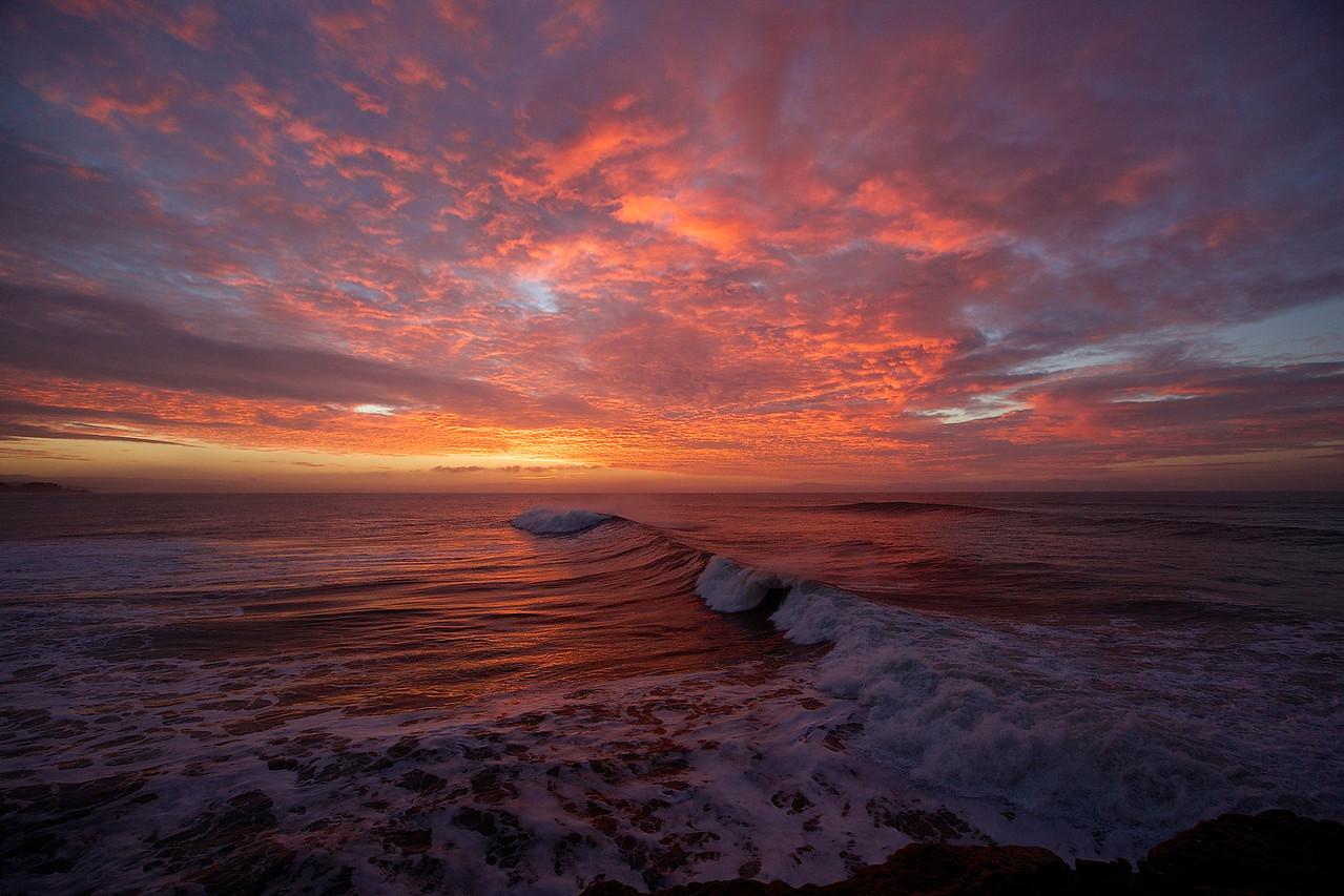 Stormy Sunrise.  Santa Cruz