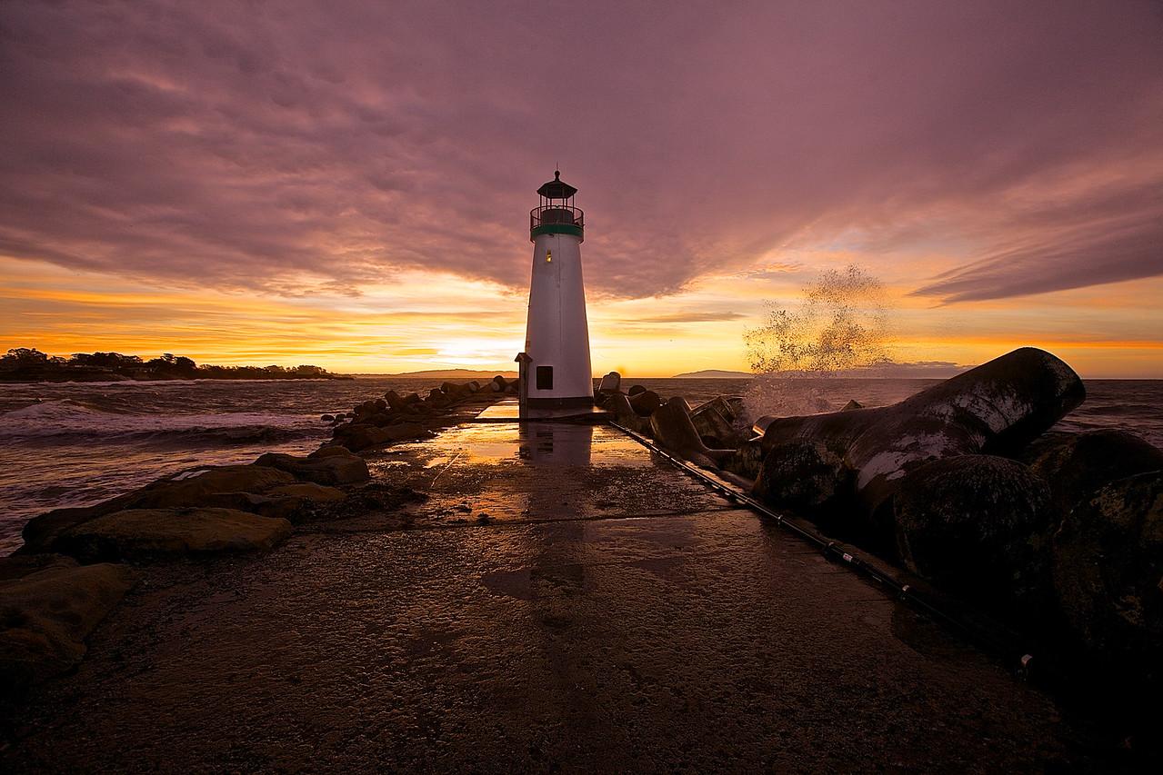 Sunrise, Walton Lighthouse, Santa Cruz.
