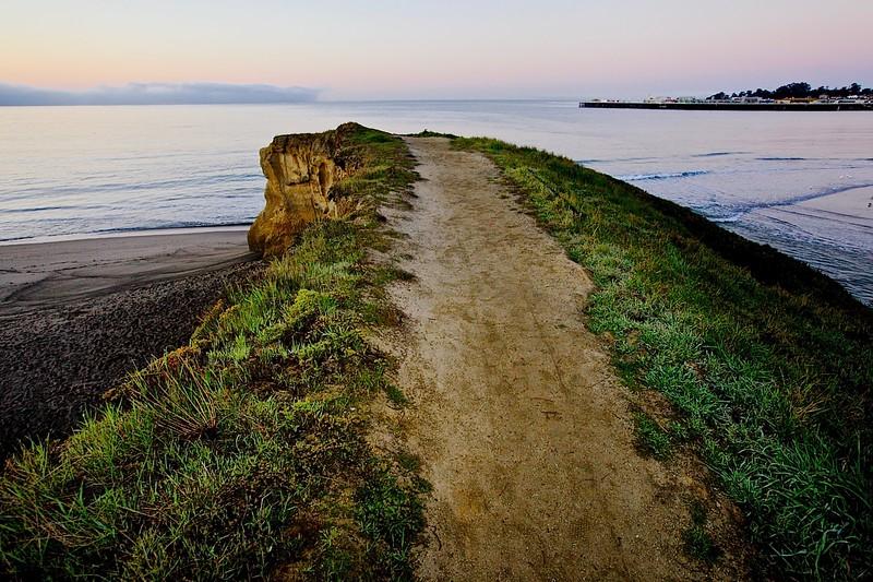 End Of The Road.  East Cliff Drive, Santa Cruz