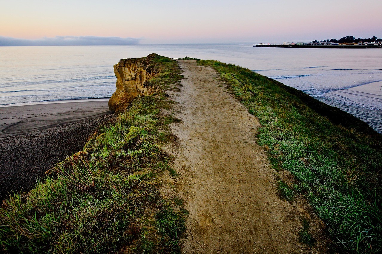 End Of The Road.  East Cliff Drive, Santa Cruz