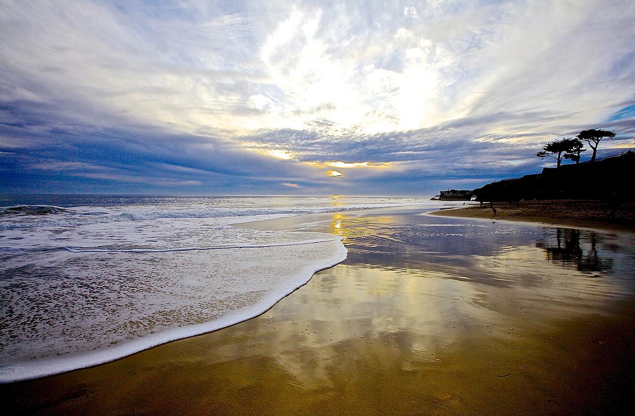 Tranquility.  Santa Cruz Beach.