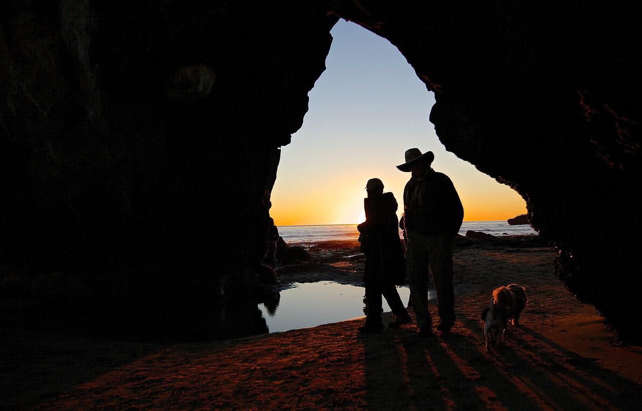 Strangers On A Beach.  Santa Cruz