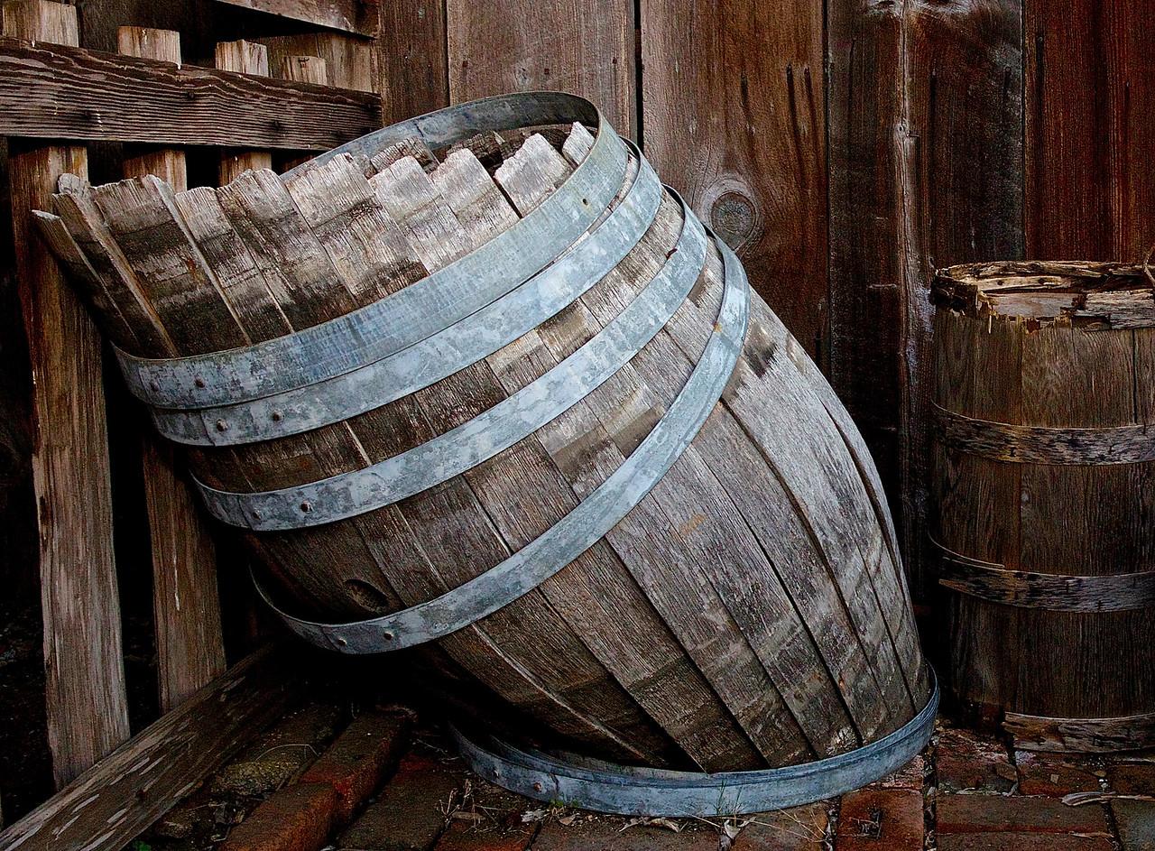 Barrel.  Wilder State Park, Santa Cruz County