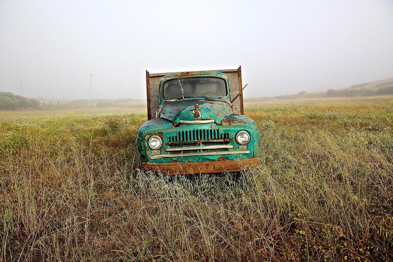 Old Truck.  Santa Cruz County Farm.