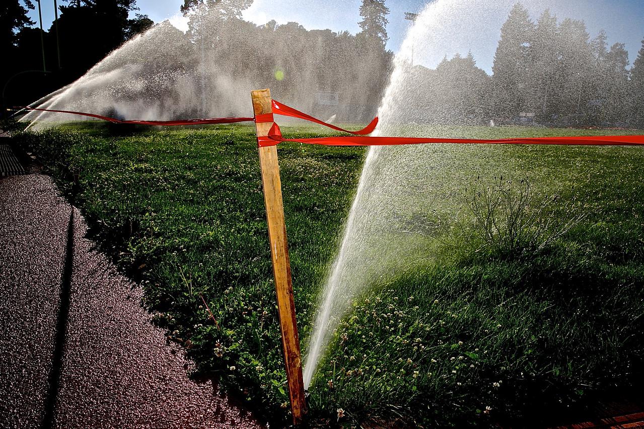 Watering.  Santa Cruz High School
