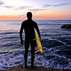 Dawn Surfer.  Steamers Lane, Santa Cruz.