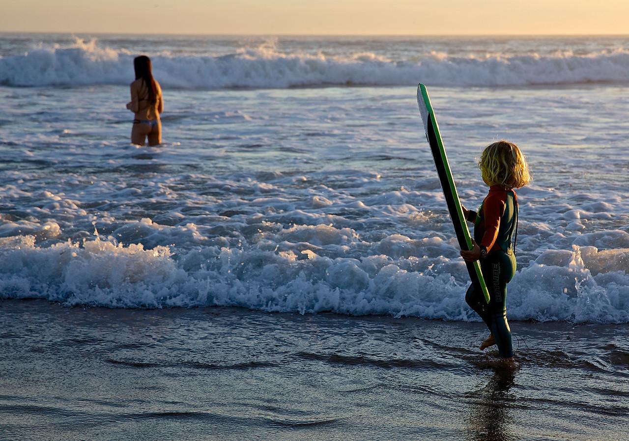 How They Grow Up.  Santa Cruz Beach