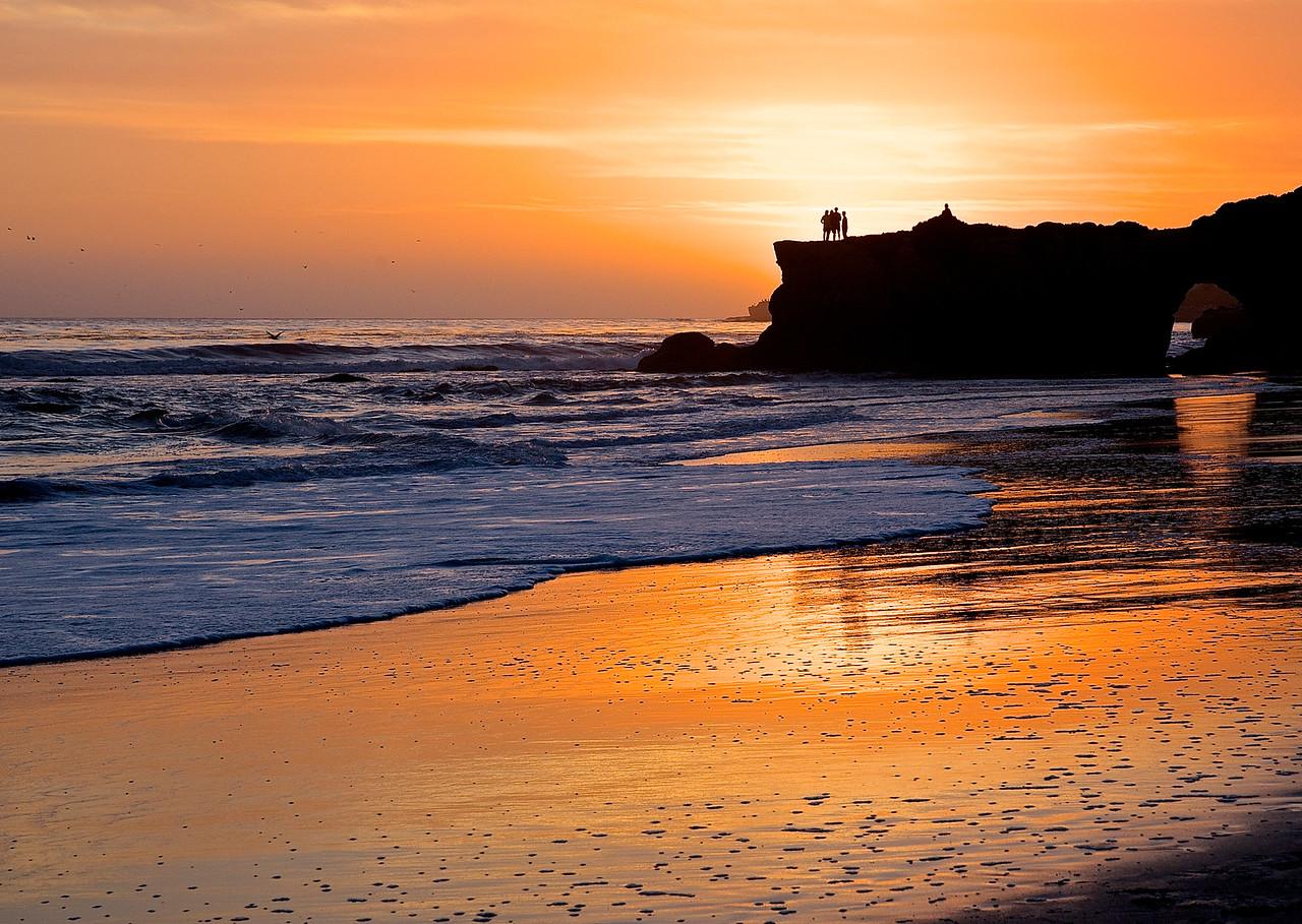 Sunset With Friends.  Santa Cruz Beach