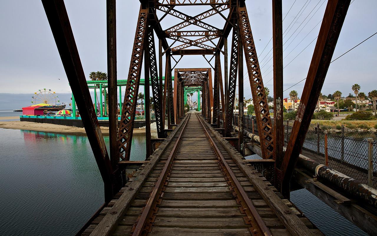 Bridge To The Boardwalk #1.  Santa Cruz
