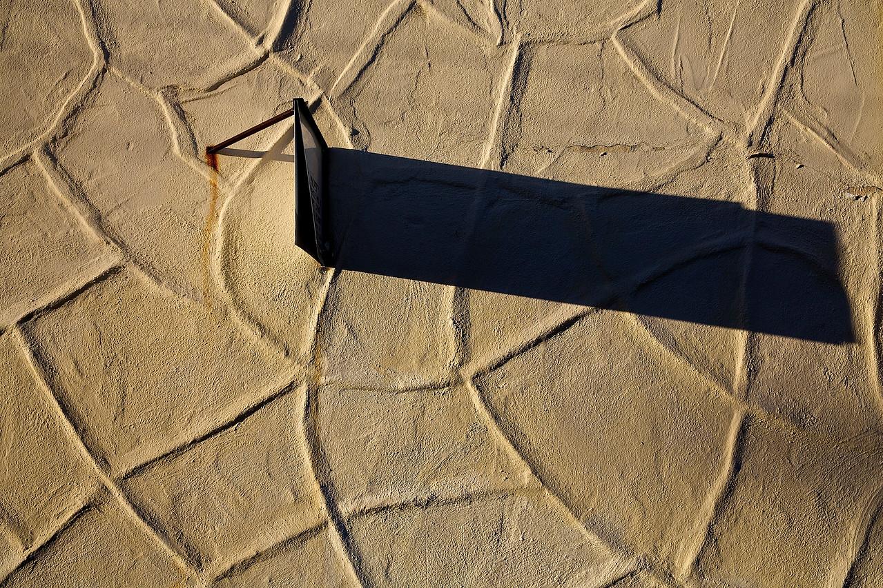 Shadow.  Santa Cruz Sunset