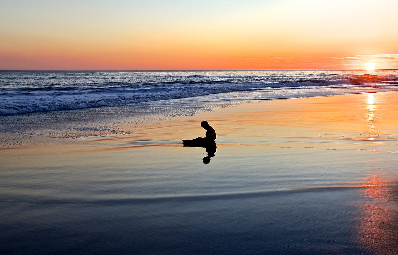 Cold Boy.  Santa Cruz Beach.