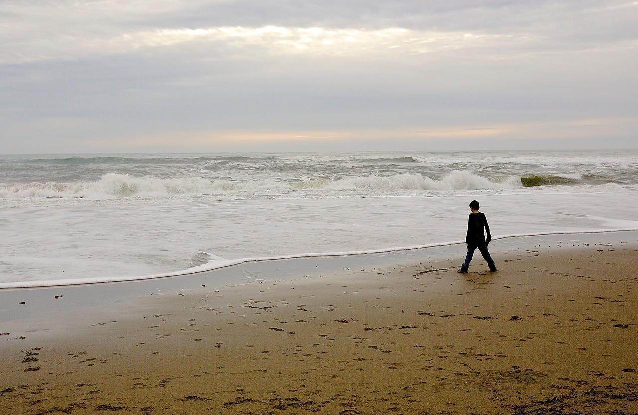 Boy.  Santa Cruz Beach