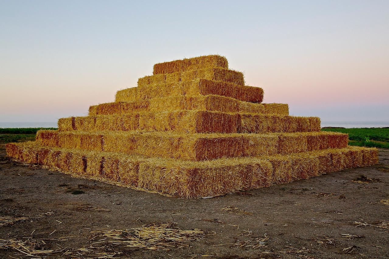 Bales Of Hay.  Santa Cruz County Farm