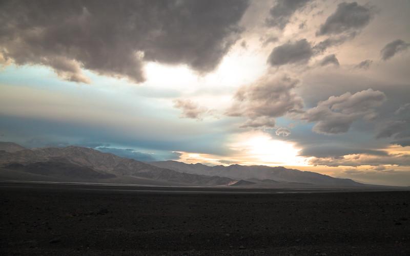 Dark Death Valley Sunset