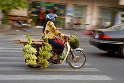 Banana Girl on the move