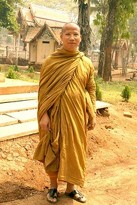 Monk alone