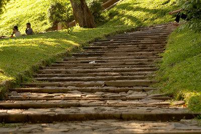 Steps leading to Wat Phnom