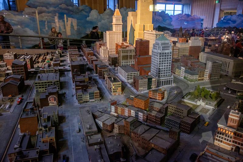 Model of Cincinnati in the past