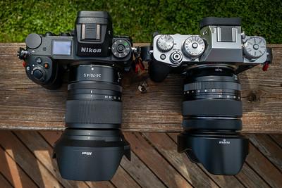 Nikon Z7 w/24-70mm f/4 and Fuji X-T4 w/16-80mm f/4