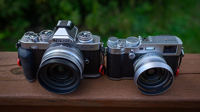 Nikon Z fc w/Grip & 16-50mm vs. Fuji X100F (no grip)