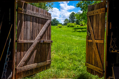 Open barn doors