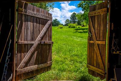 Open barn doors