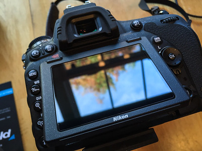 Expert Shield LCD protector installed on Nikon D750