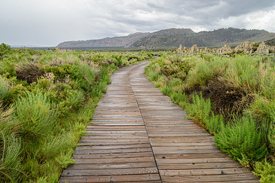Mono Lake path to tufa towers