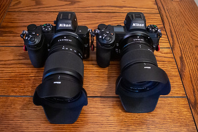 Z5 + 24-200mm on left, Z7 + 24-70mm f/4 on right