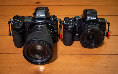 Nikon Z7 w/24-70mm f/4 on left, Nikon Z50 w/16-50mm on right